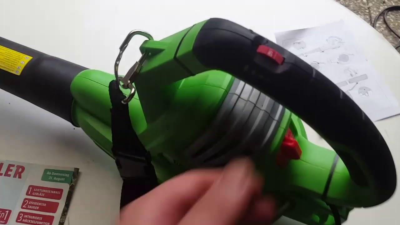 lidl florabest kraftvoller laubsauger/- bläser mit 3000-watt-motor
