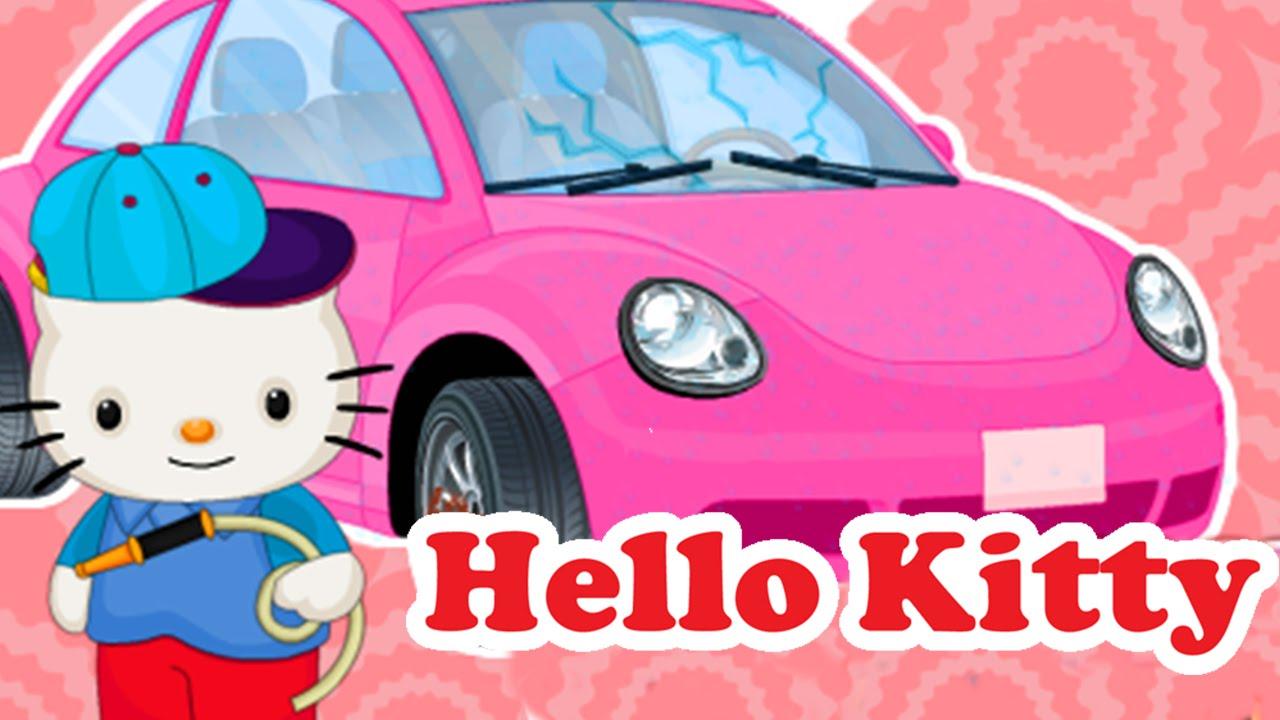 hello kitty car wash repair paint job decorate wonderful game for kids