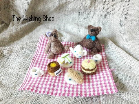 How To Make A Miniature Teddy Bear Picnic Scene Needle Felt