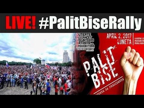 LIVE! #PalitBiseRally April 2, 2017 at LUNETA PARK! | #PalitBise #ImpeachLeniRob - Philippines News