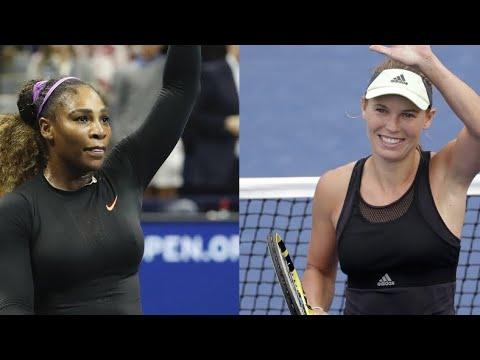 Serena Williams, Caroline Wozniacki win 1st doubles match