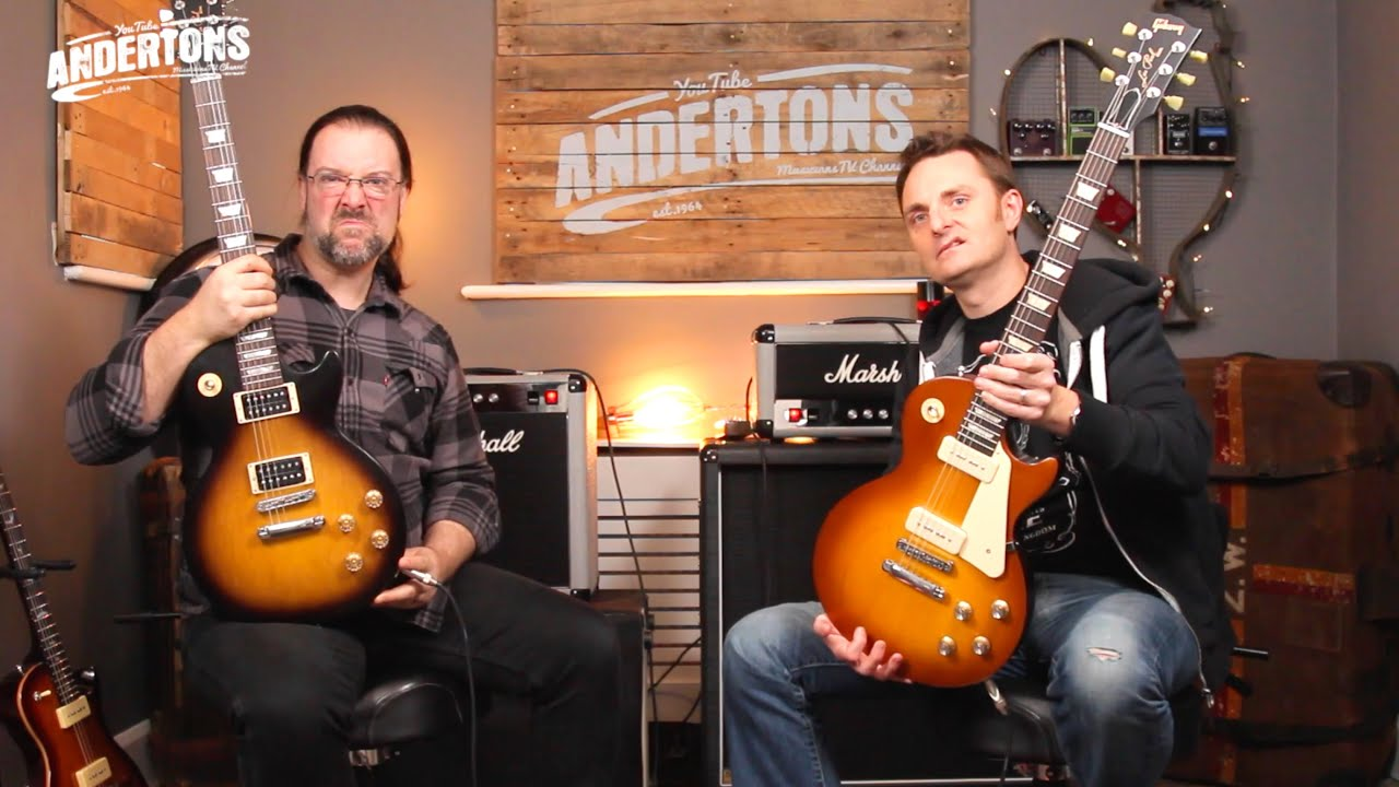 gibson 2016 50s amp 60s tribute les pauls   trad spec vs