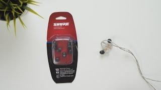 Shure EABKF1 Medium Foam Tips for SE Series | Unboxing & Application