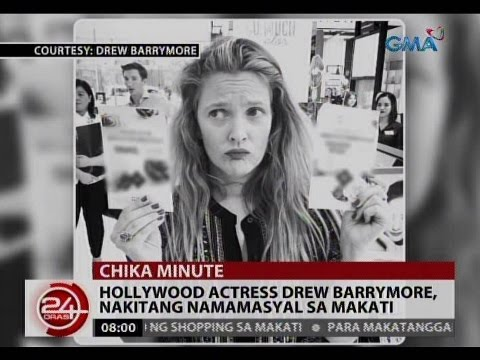 24 Oras: Hollywood actress Drew Barrymore, nakitang namamasyal sa Makati