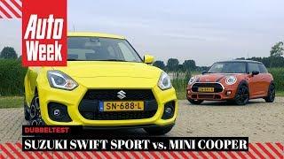 Suzuki Swift Sport vs. Mini Cooper - AutoWeek Dubbeltest - English subtitles