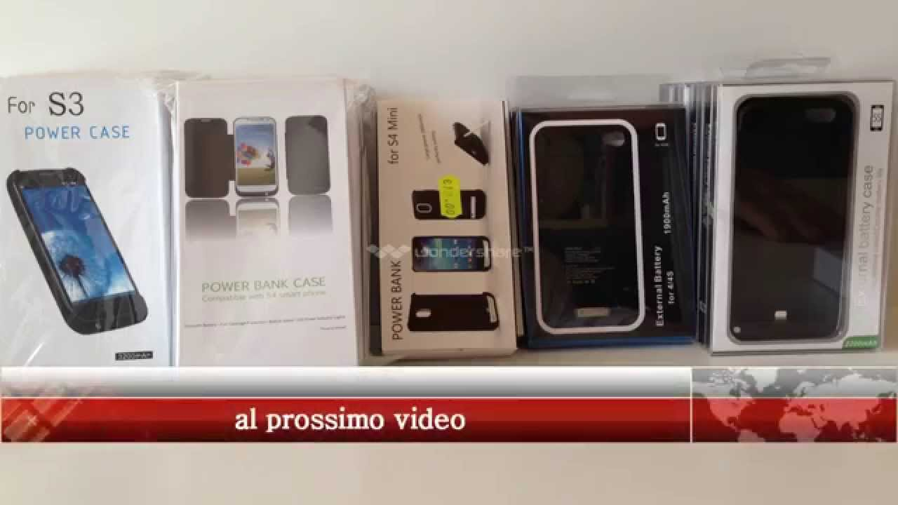 Cover batteria per iPhone e Galaxy