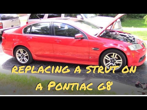 How to replace a strut on a 2009 Pontiac G8.  I LOVE THIS CAR!!!
