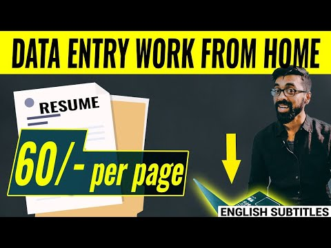 RESUME Data Entry Work From Home 🏠 | Full Details With PROOF