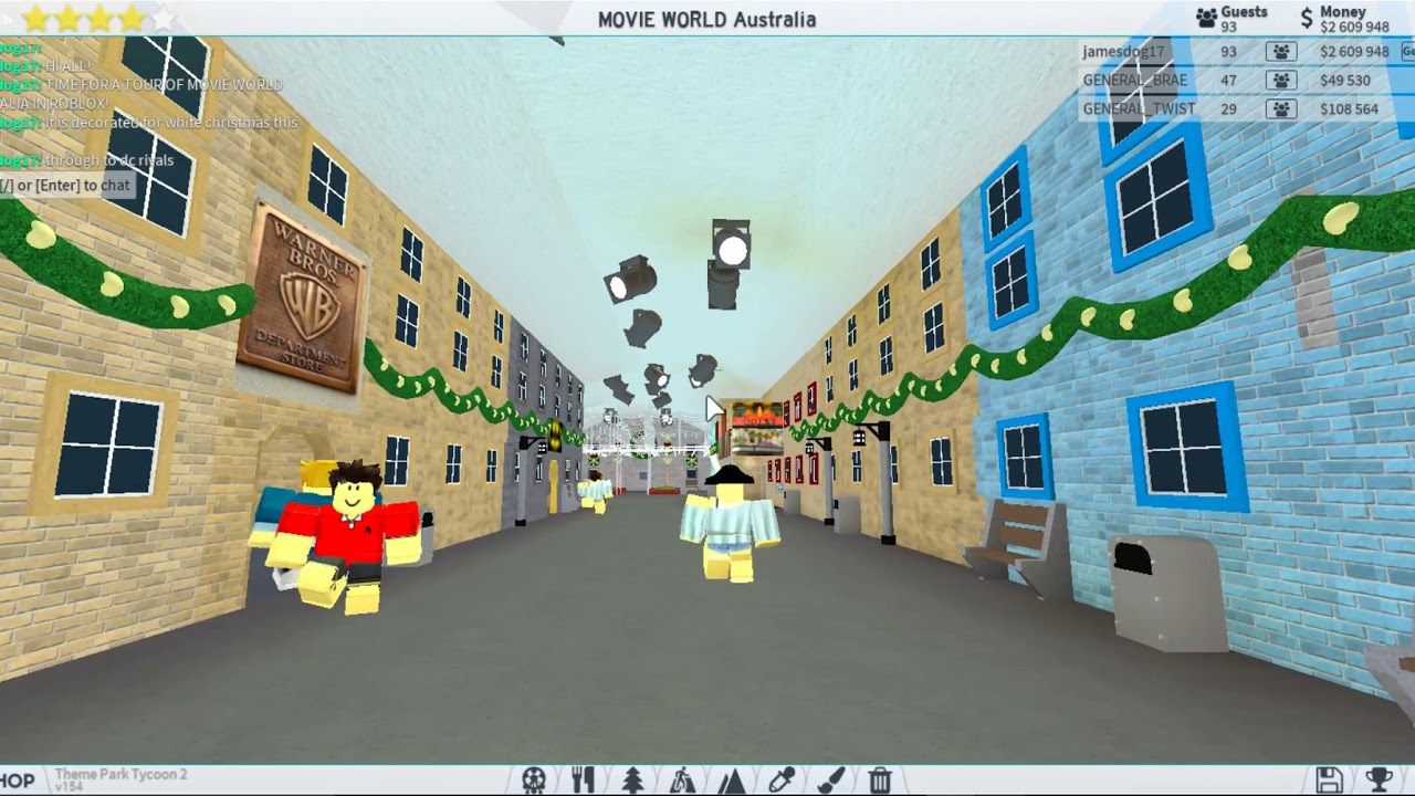 Roblox Movie World Australia Recreation Tour White Christmas
