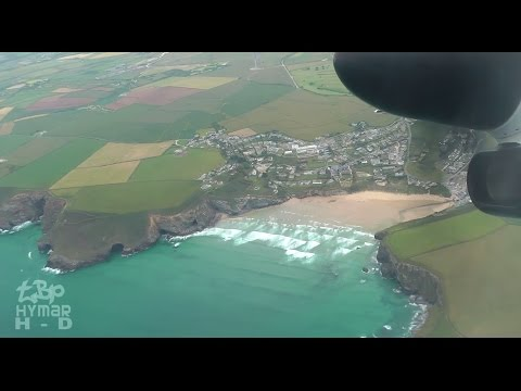 Newquay Airport Cornwall to London Stansted Flybe Bombardier Q400 G-ECOJ