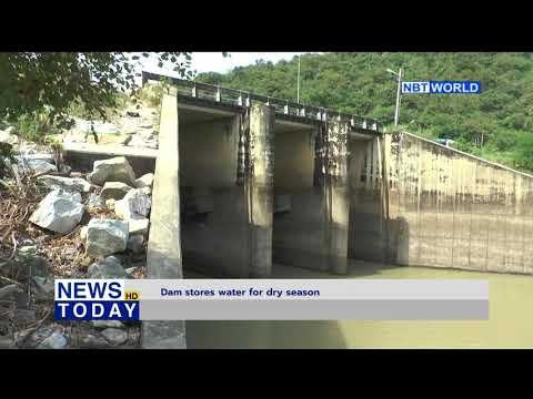 Dam stores water for dry season