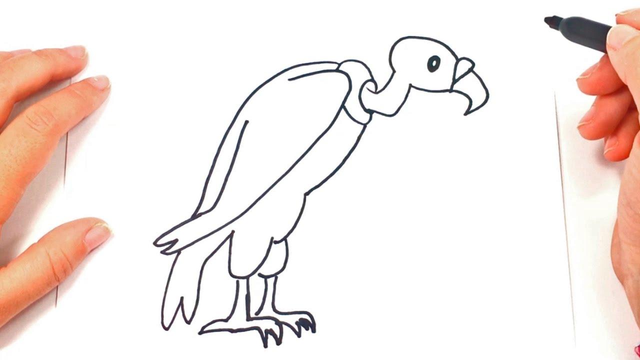 Como dibujar a buitre paso a paso dibujo facil de buitre for Comedor facil de dibujar