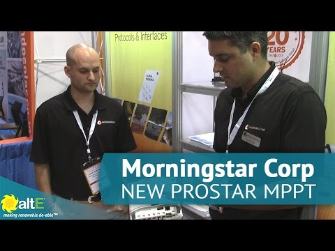 Morningstar Corp NEW ProStar MPPT Charge Controller At SPI 2015