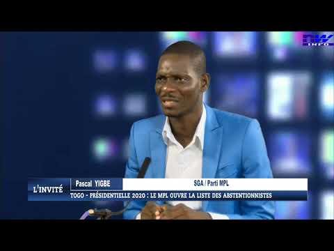 Togo - présidentielle 2020: le MPL ouvre la liste des abstentionnistes (l'invité 16 01 2020)