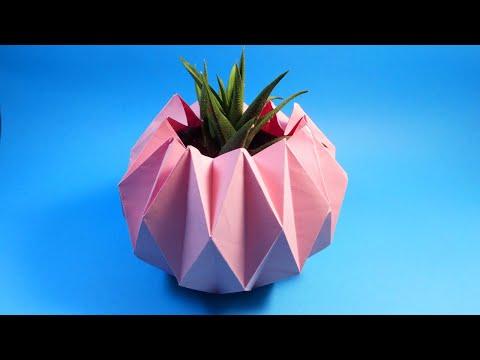 DIY Origami Vase | How to Make Paper Flower Vase | Easy Paper Craft
