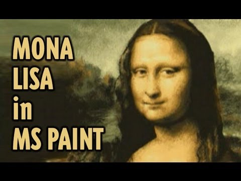 How to draw the Mona Lisa in Microsoft Paint REMIX