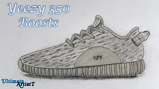 "Realistic Shoes ""Yeezy 350 Boosts"" (Speed Drawing)"