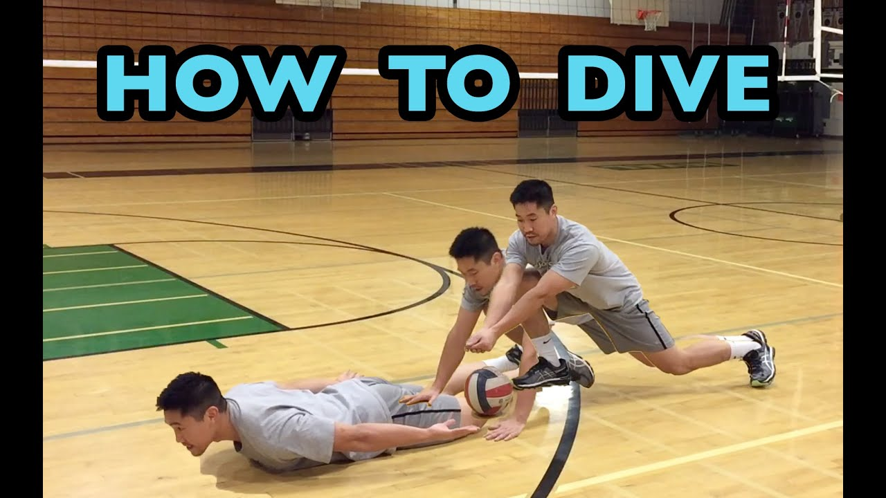 How To Dive For A Volleyball Volleyball Defense Tutorial Youtube