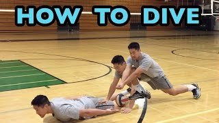 How to DIVE for a Volleyball - Volleyball Defense Tutorial