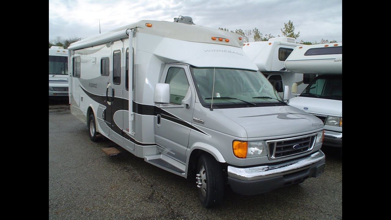 PreOwned 2007 Winnebago Aspect 26A   Mount Comfort    RV     YouTube
