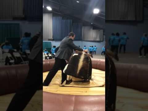 Judge Alex Riding Mechanical Bull