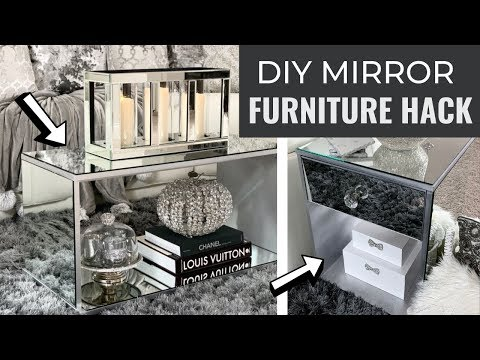 DIY MIRRORED FURNITURE HACKS! Easy And Cheap DIY Home Decor