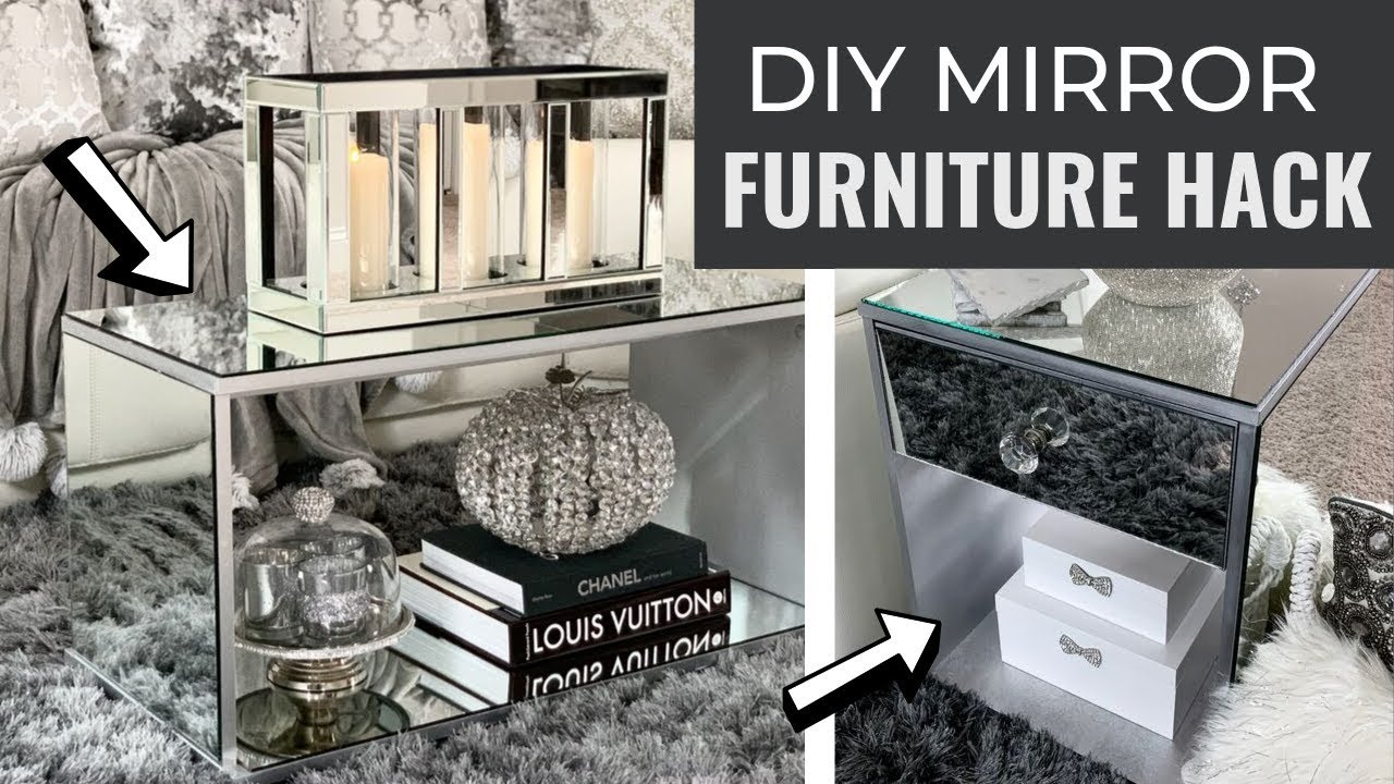Diy Mirrored Furniture Hacks Easy And