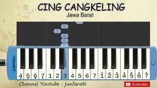 not pianika cing cangkeling - lagu daerah / nusantara / tradisional indonesia - not angka