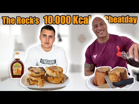 ICH PROBIERE THE ROCK'S LEGENDÄREN CHEATDAY *10.000 Kalorien*