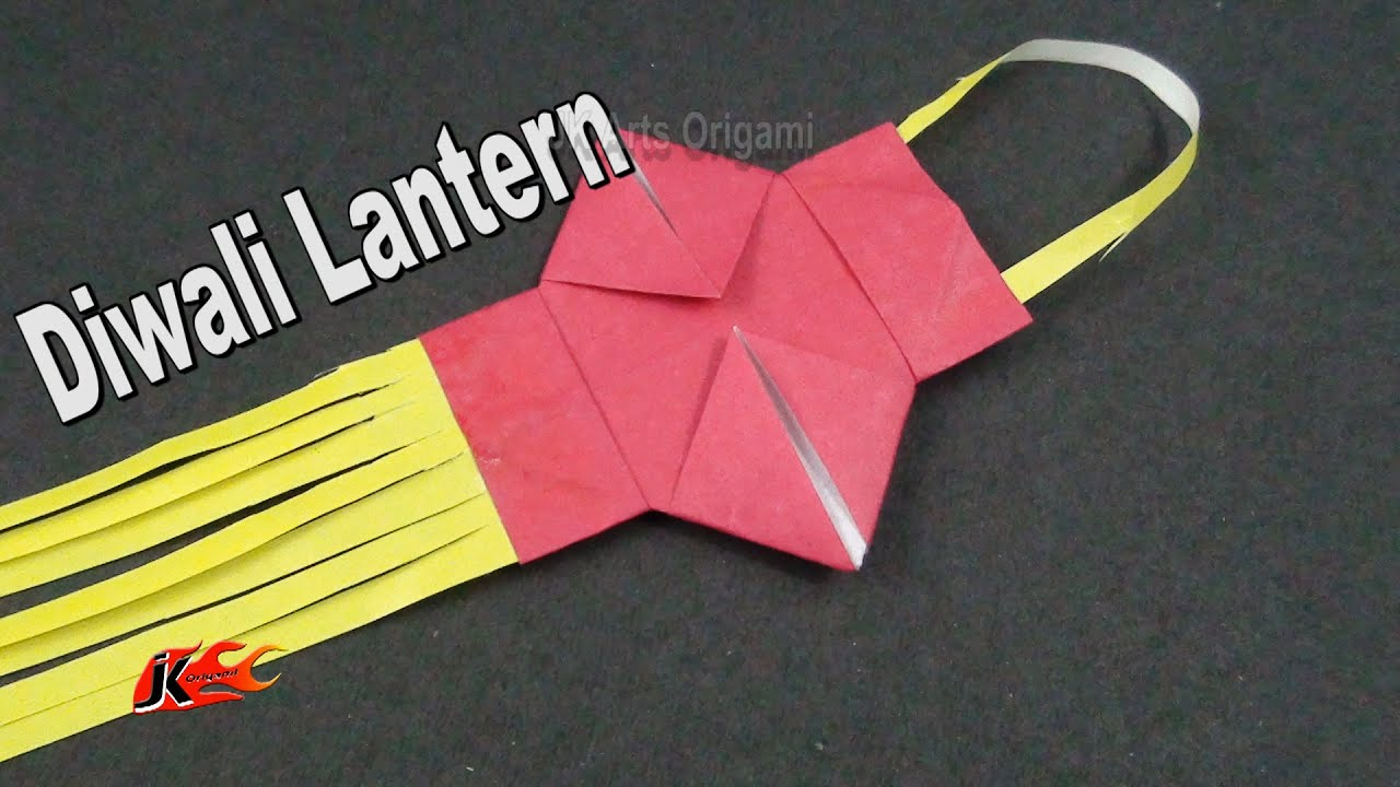 Learn origami | How to make a small Paper Diwali lamp / kandil ... for Diwali Lamp Craft  51ane