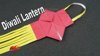 Learn origami | How to make a small Paper Diwali lamp / kandil | JK Origami 003