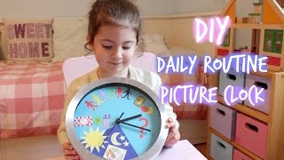 DIY kids daily routine picture clock