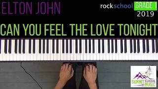 NEW Rockschool Grade 1 2019 Can You Feel The Love Tonight Elton John Piano With Sheet Music