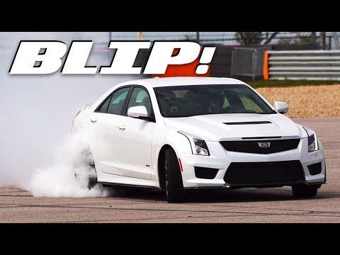 The Cadillac ATS-V Does Slow-Mo Donuts Around COTA | BLIP!