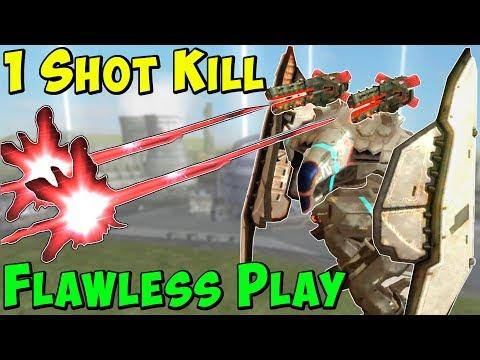 Perfect Play 1 Shot | 1 Kill - Insane War Robots Skirmish Gameplay WR