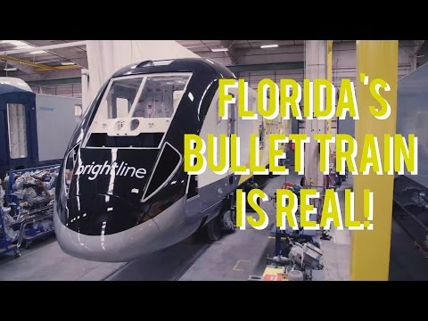 Bullet Train in Florida Being Built - FAST FORWARD