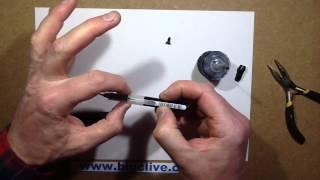 Refilling a Pilot V Sign pen with inkjet refill ink