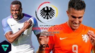 USA vs. Netherlands | Group C | 2017 JCA World Cup Germany | PES 2017
