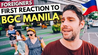 Our FOREIGN friends REACTING to BGC Manila