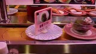 Sushi sur tapis roulant
