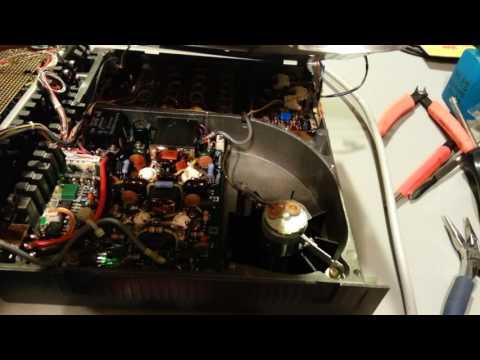 Yaesu FT-757GX intermittent cooling fan operation repair.