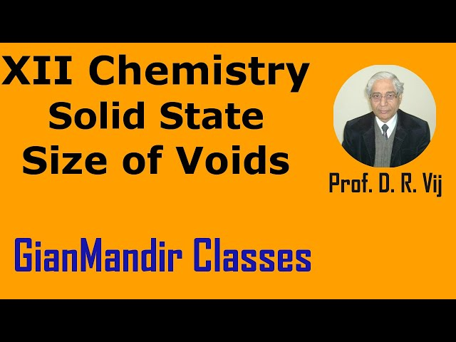 XII Chemistry | Solid State | Size of Voids by Gaurav Sir