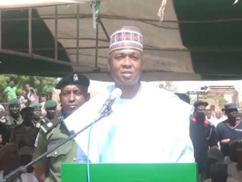 Senate President Dr. Bukola Saraki Flags off Road Project