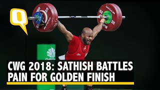 CWG 2018: Weightlifter Sathish Sivalingam Fights Through Pain to Bag India's Third Gold