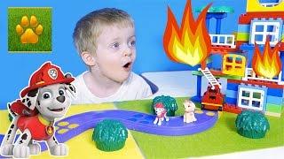 ЩЕНЯЧИЙ ПАТРУЛЬ  Маршал Пожарная Машина Спешит на Помощь Про пожар мультик Lion boy