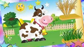Сытая Ферма накорми животных/Well-fed Farm feed animals познавательный и развивающий мультик