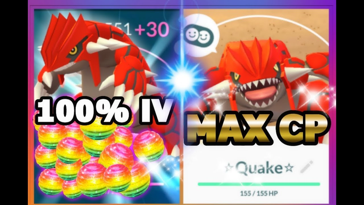 Groudon max CP for all levels - Pokemon Go