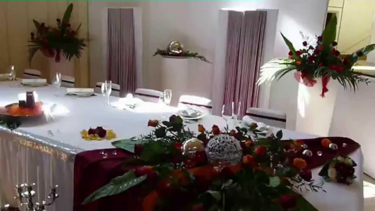 Hochzeitsdeko tischdekoration in rot orange von alesias - Youtube hochzeitsdeko ...
