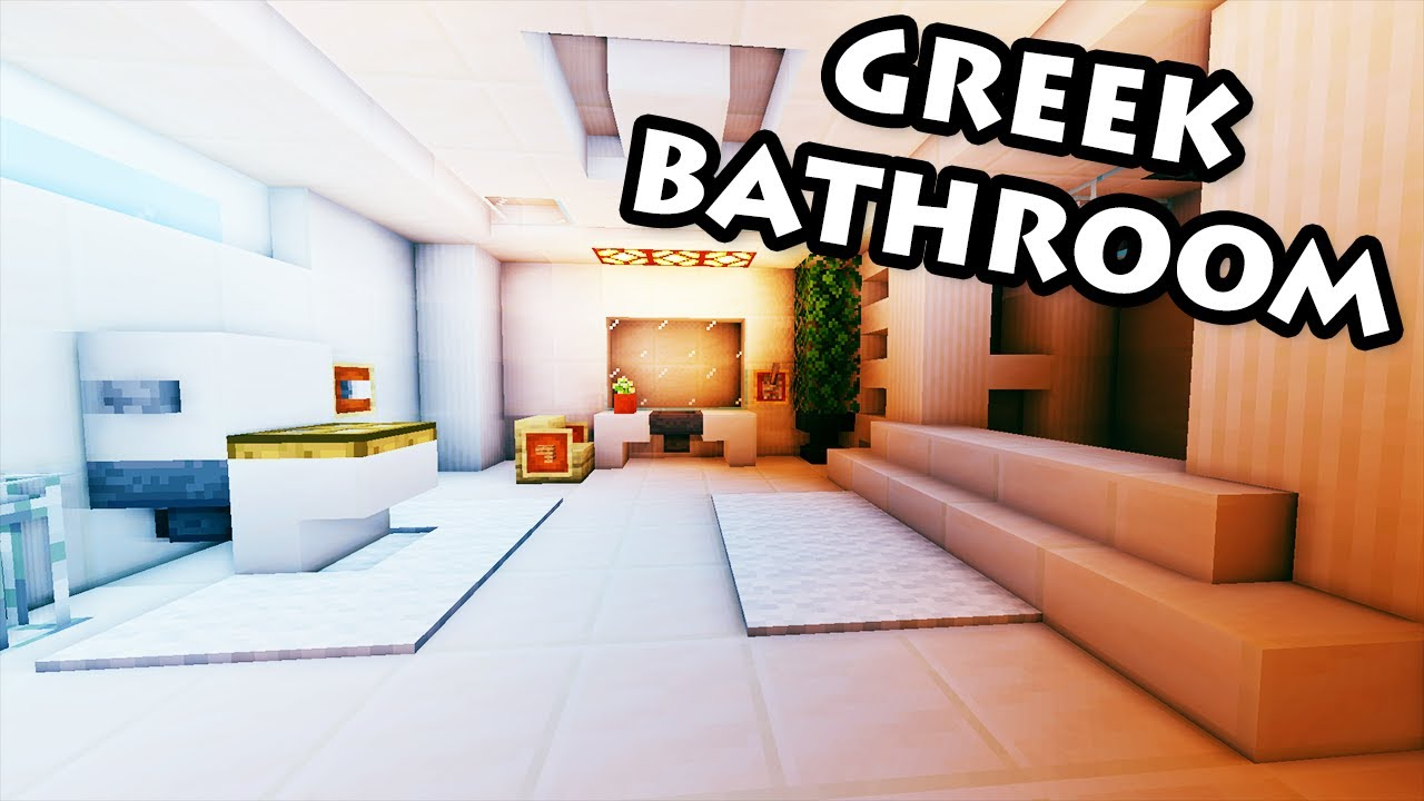 minecraft tutorial 31 greek house how to build a bathroom hd youtube - Minecraft Bathroom Designs