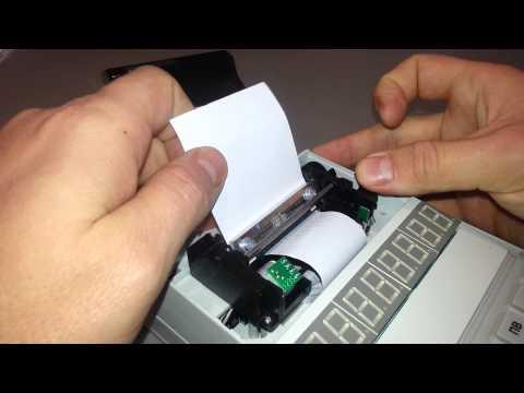 заправка чековой ленты миника